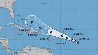 Depresión tropical avanza en el Atlántico