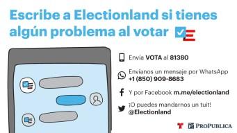 ¿Problemas para votar? Comparte tu historia con nosotros