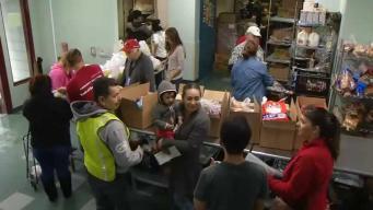 Sagrado Corazón entrega cajas de comidas a familias en SJ