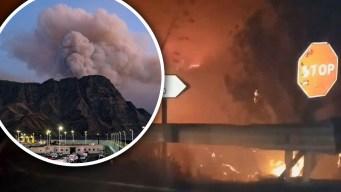 Captado en video: incendios devoran una isla española