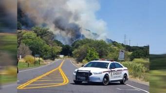 Desalojan casas por incendio de pastizal en Cordelia