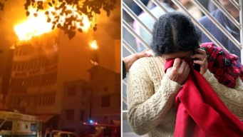 Descomunal incendio arrasa con hotel; hay 17 muertos
