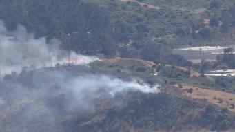 Reportan incendio de maleza al sur de San Francisco