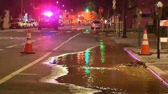 Ruptura de tubería provoca cierre de calles en Redwood City