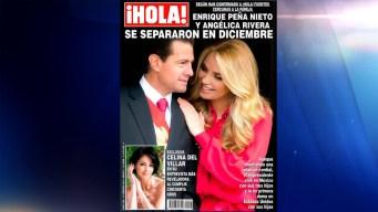 Peña Nieto y Angélica Rivera ya se habrían separado