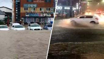 Video: mortal tifón Mitag convierte las calles en ríos