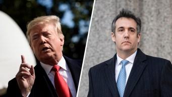 """Trump responde a Cohen: """"nunca ordené"""" violar la ley"""