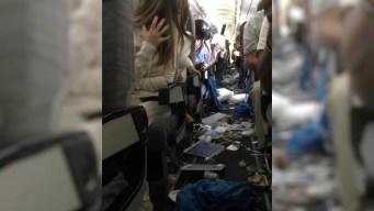 En video: 15 heridos por fuerte turbulencia en pleno vuelo