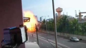 Dramático video: captan el instante de otra explosión en Sri Lanka
