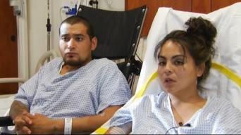 """""""Milagro que estemos vivos"""": pareja habla tras accidente"""