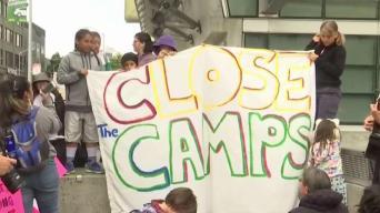 Protestas en contra de los centros de detención