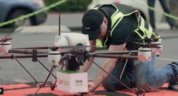 Uber prueba drones para entregas y auto sin chofer