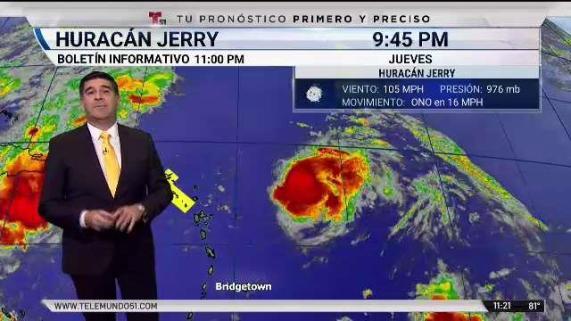 Huracán Jerry; boletín 11 pm jueves