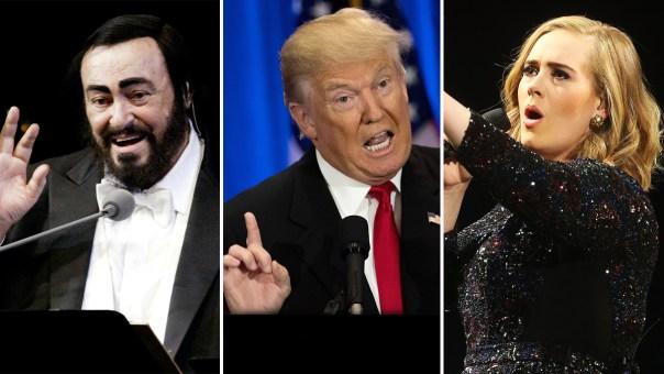 Artistas se ofenden por uso de su música por Trump