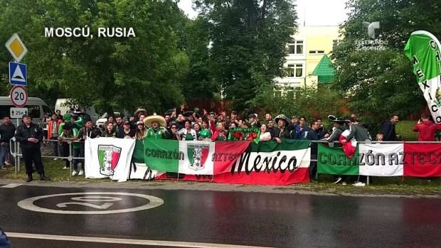 [World Cup 2018 PUBLISHED] Fanáticos mexicanos invadieron Moscú en apoyo del Tri