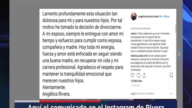 [TLMD - NATL] Angélica Rivera confirma que se divorcia de Peña Nieto