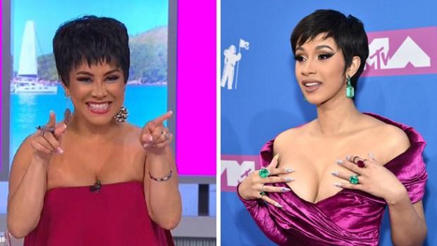 Carolina Sandoval imita a Cardi B: ¿cuál te gusta más?