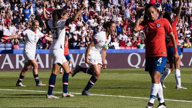 [WWC 2019] Estados Unidos vence a Chile y asegura su pase a octavos de final
