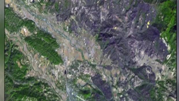 [TLMD - NATL] Desde el espacio: la masiva zona que fue arrasada por el incendio Kincade de California