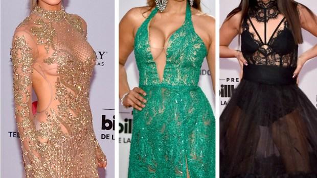De infarto: escotes y transparencias en los Premios Billboard