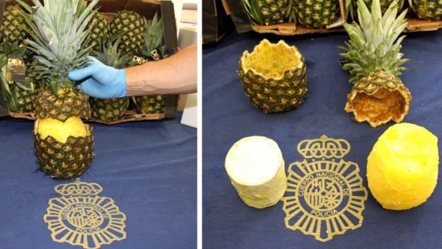 [TLMD - NATL] Narco-piñas: ingenioso cargamento de 150 libras de cocaína