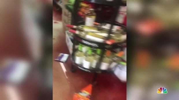 [TLMD - LA] Imágenes de una tienda de licores después del temblor con epicentro en Ridgecrest