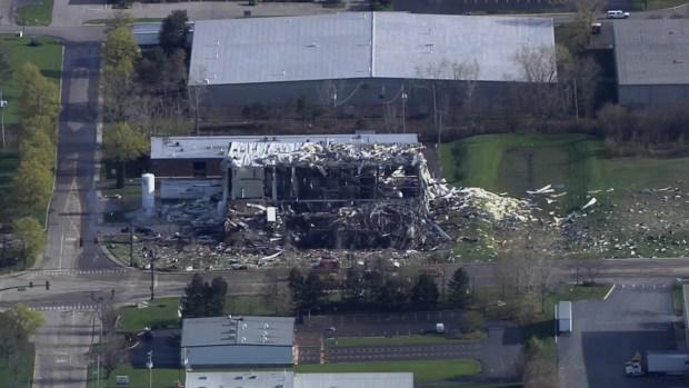 Resultado de la explosión en planta industrial de Waukegan