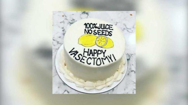 [TLMD - Bahia] ¿Feliz vasectomía? Curioso pastel de una mujer a su esposo se vuelve viral