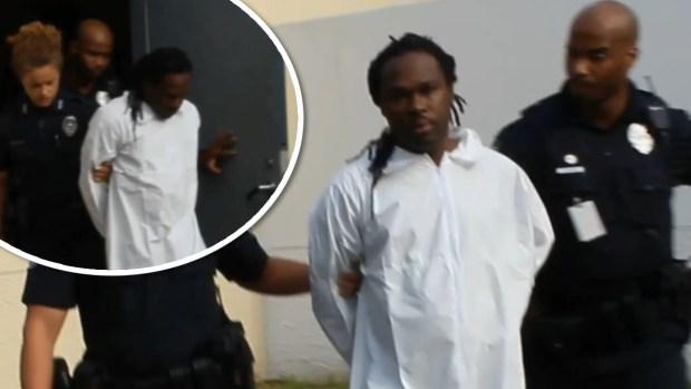 [TLMD - NATL] Primeras imágenes de sospechoso de triple homicidio tras su arresto