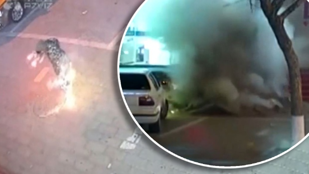 [TLMD - NATL] Captado en video: niño travieso causa tremenda explosión en calle de China