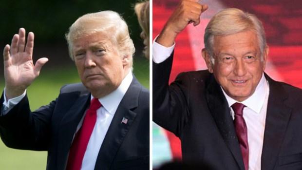 """Trump afirma que tuvo una """"gran llamada"""" con AMLO"""