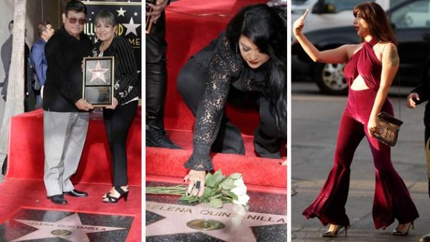 Familiares y fans acuden a la develación de la estrella de Selena en Hollywood