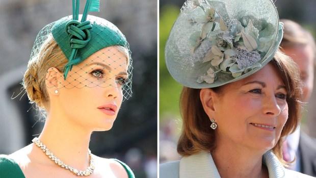 Boda real: los extravagantes sombreros de las invitadas