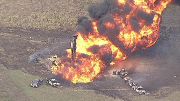 Video: Explosión por tubería de gas en Texas