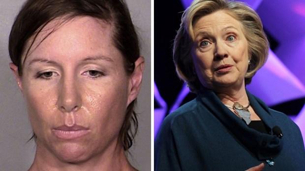 Video: Liberada tras arrojar zapato a Clinton