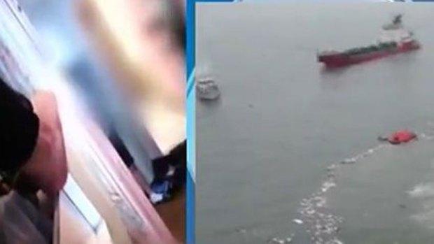 Video: Graban aterradoras imágenes del Sewol