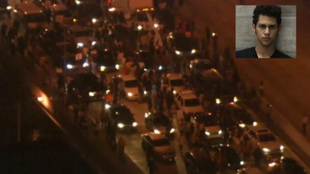 Video: Manifestantes bloquean autopista en Miami
