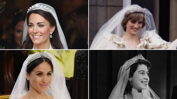 ¿De quién es? Las novias reales y sus impresionantes tiaras prestadas