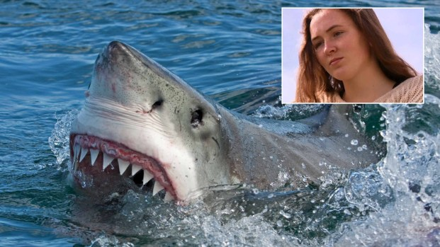 """""""De película"""", joven atacada por tiburón más grande que bote"""