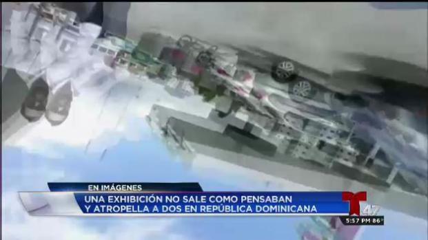 Auto arrolla a periodistas durante prueba de frenos