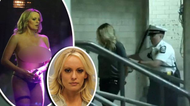 Por sus senos, el sensual arresto de actriz porno que alega aventura con Trump