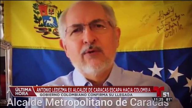 Escapa a Colombia alcalde opositor venezolano
