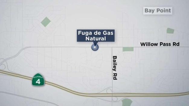 Incendio amenaza a línea de gas en Bay Point