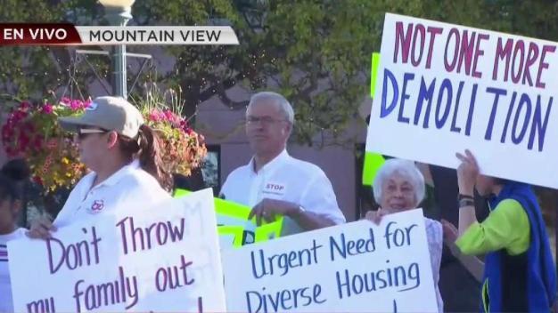 Protestan por desalojos en Mountain View