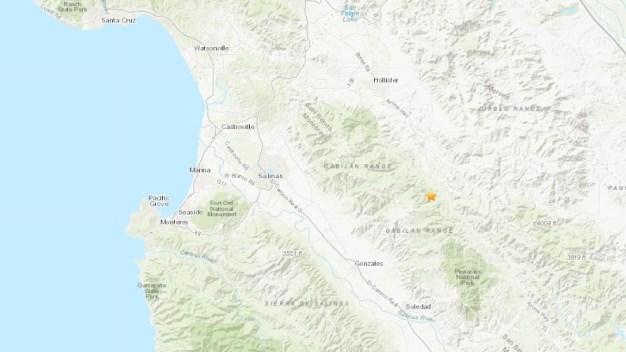 Se registra sismo de 3.4 cerca de Hollister y Salinas