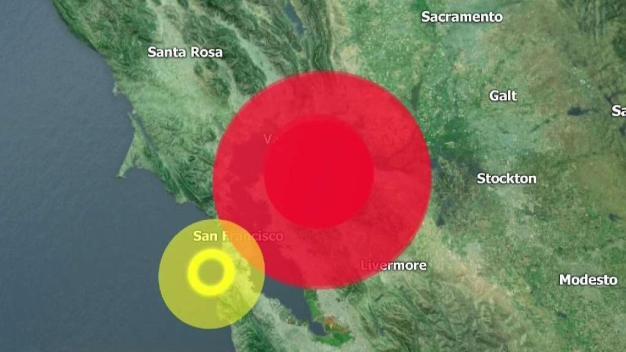 Temblor de magnitud 4.5 en Área de la Bahía