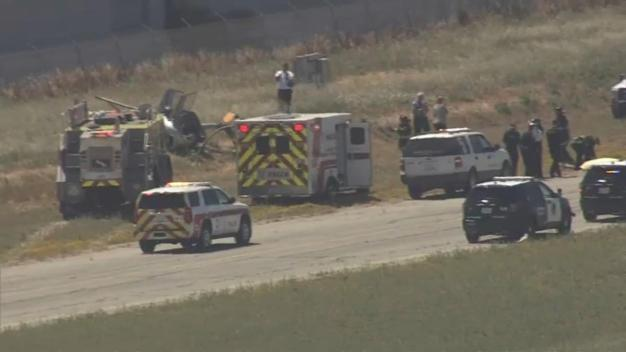 Dos heridos tras choque de helicóptero en Hayward