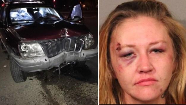 Arrestan a mujer en Condado Placer tras persecución policial