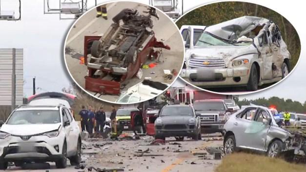 En fotos: el peor accidente de una nueva autopista deja mujer decapitada