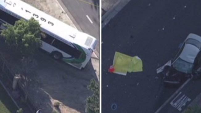 Antioch: muere conductor tras chocar con autobús